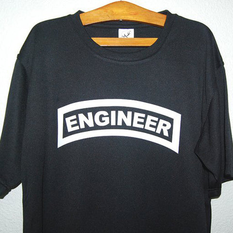 HGS T-SHIRT - ENGINEER TAB (WHITE PRINT) - Hock Gift Shop | Army Online Store in Singapore