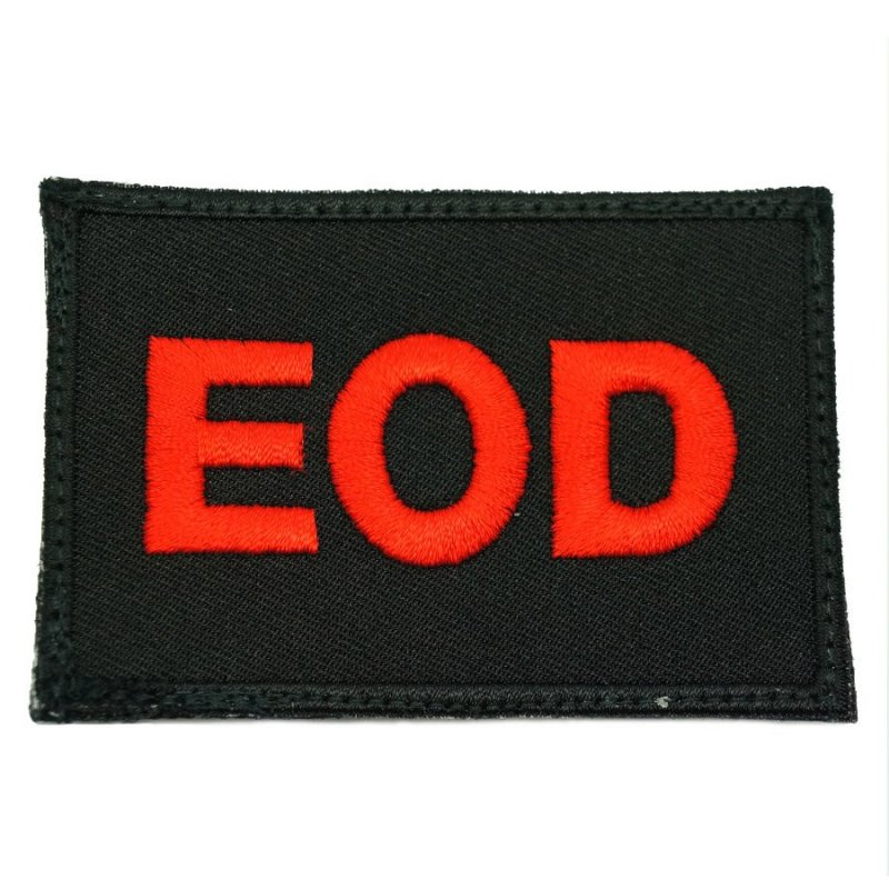 EOD CALL SIGN PATCH - BLACK