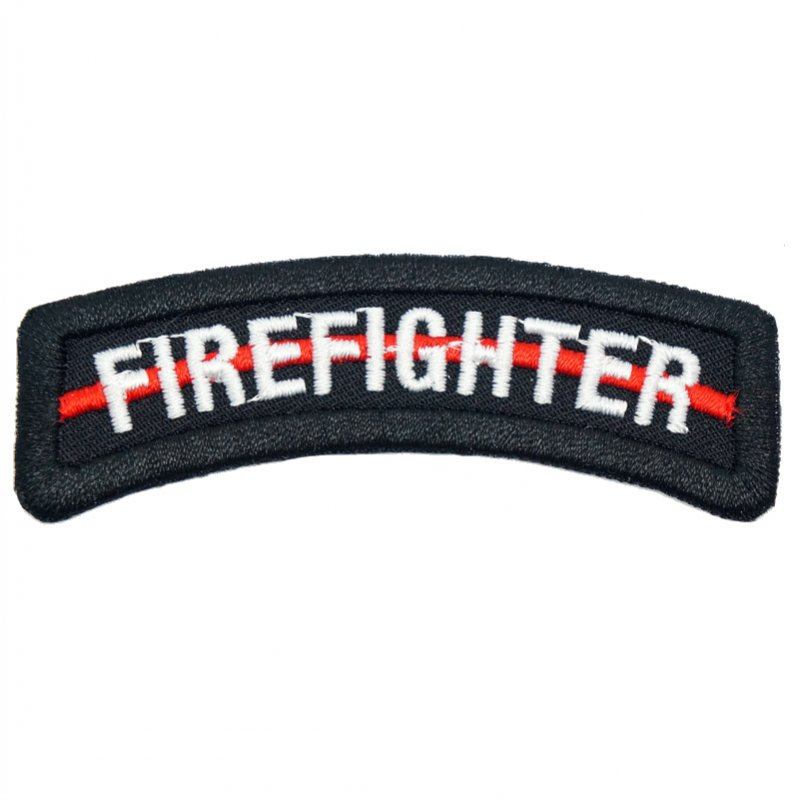 FIREFIGHTER TAB - RED LINE (BLACK)