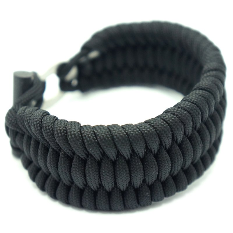 FIRESTEEL TRILOBITE BAR STYLE PARACORD BRACELET - BLACK