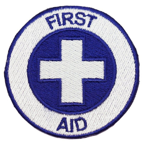 FIRST AID PATCH - BLUE / WHITE CROSS