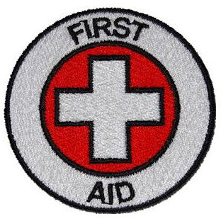 FIRST AID PATCH - RED / WHITE CROSS