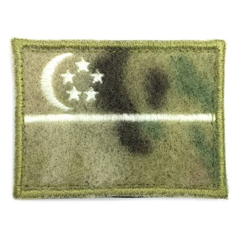SINGAPORE FLAG - MULTICAM VELCRO, GLOW (LARGE) - Hock Gift Shop | Army Online Store in Singapore