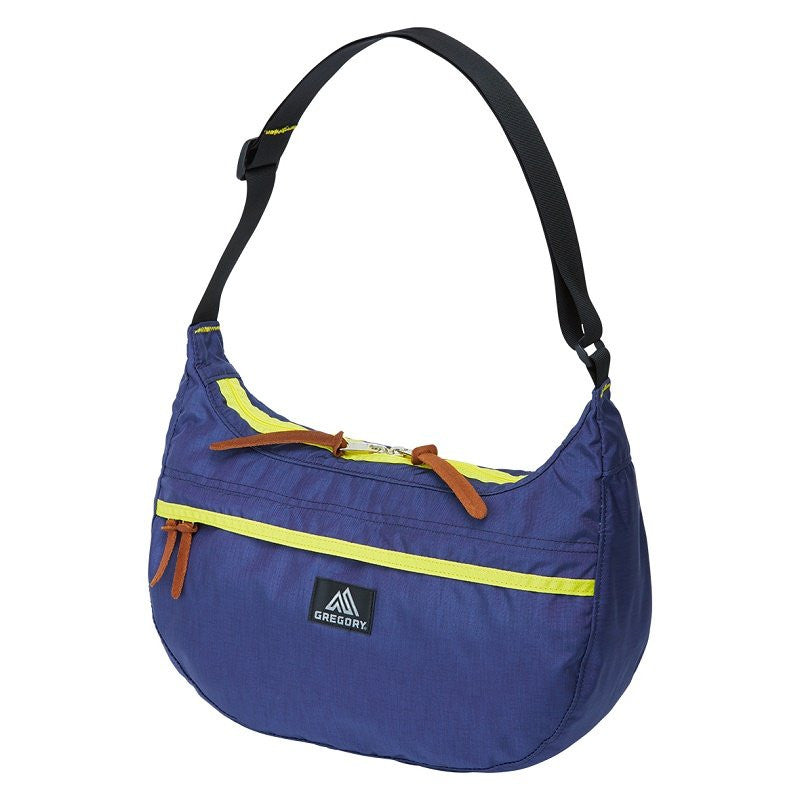 GREGORY SATCHEL - M - SLATE BLUE/SUNFLOWER