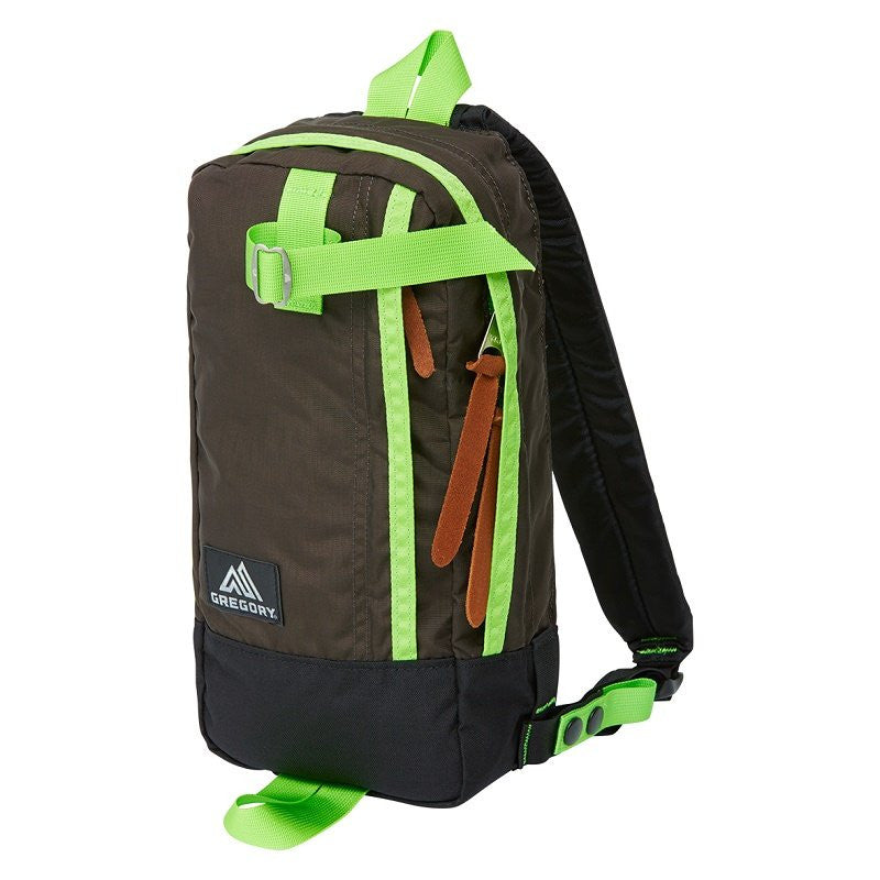 GREGORY SWITCH SLING - DARK COFFEE/LIME