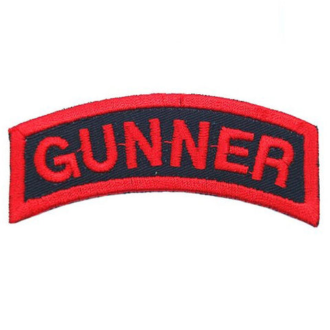 US GUNNER TAB - BLACK RED