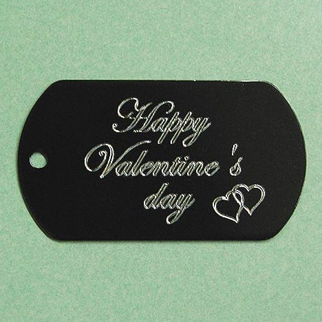 HAPPY VALENTINE'S DAY DOG TAG (DOUBLE HEARTS)