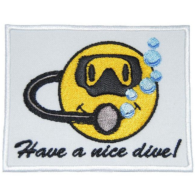 HAVE A NICE DIVE PATCH - WHITE