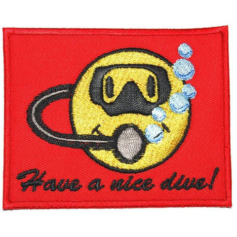 HAVE A NICE DIVE PATCH - RED