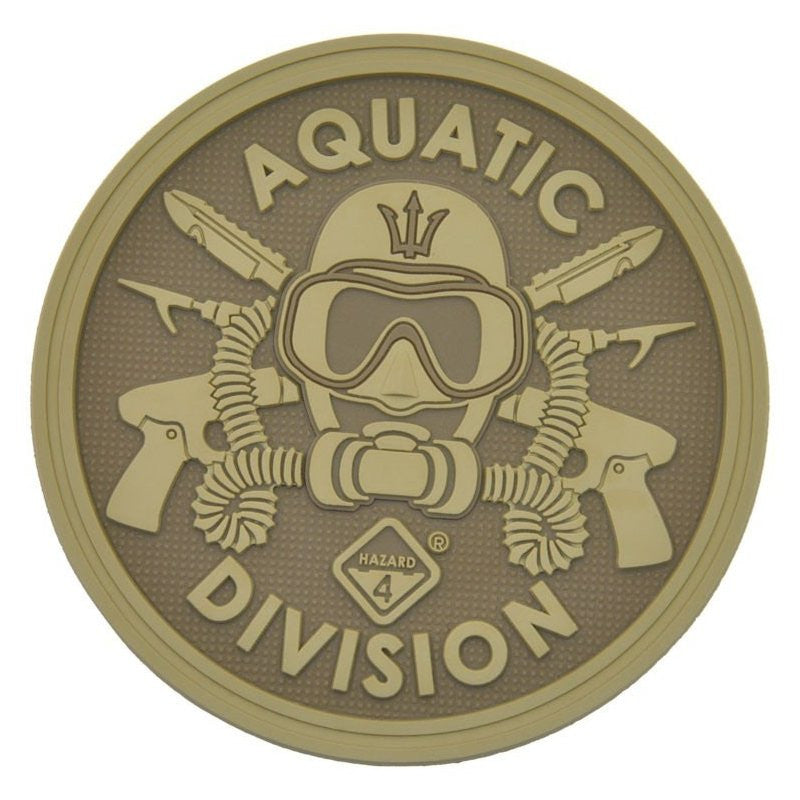 HAZARD 4 AQAUTIC DIVISION PATCH PVC - COYOTE