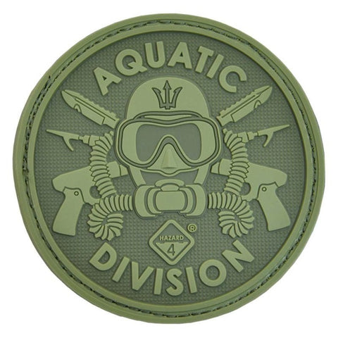 HAZARD 4 AQUATIC DIVISION PATCH PVC - OD GREEN
