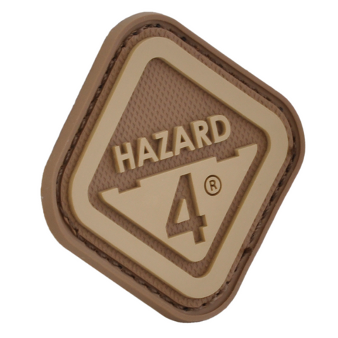 HAZARD 4 DIAMOND SHAPE MORALE PATCH PVC - COYOTE