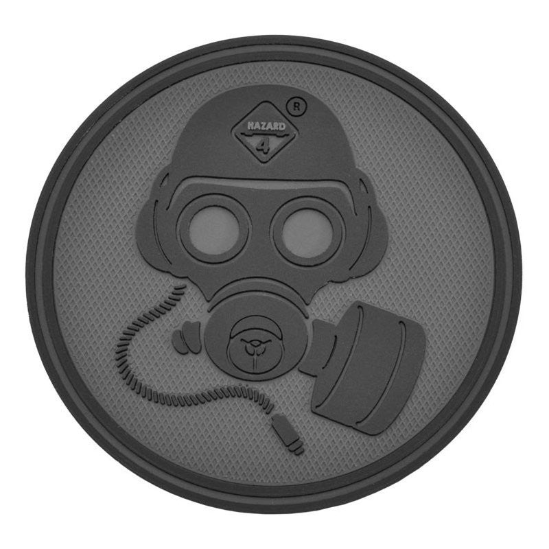 HAZARD 4 GAS MASK PATCH PVC - BLACK