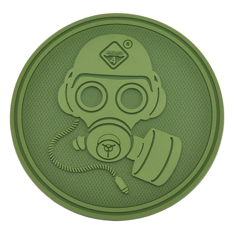 HAZARD 4 GAS MASK PATCH PVC - OD GREEN