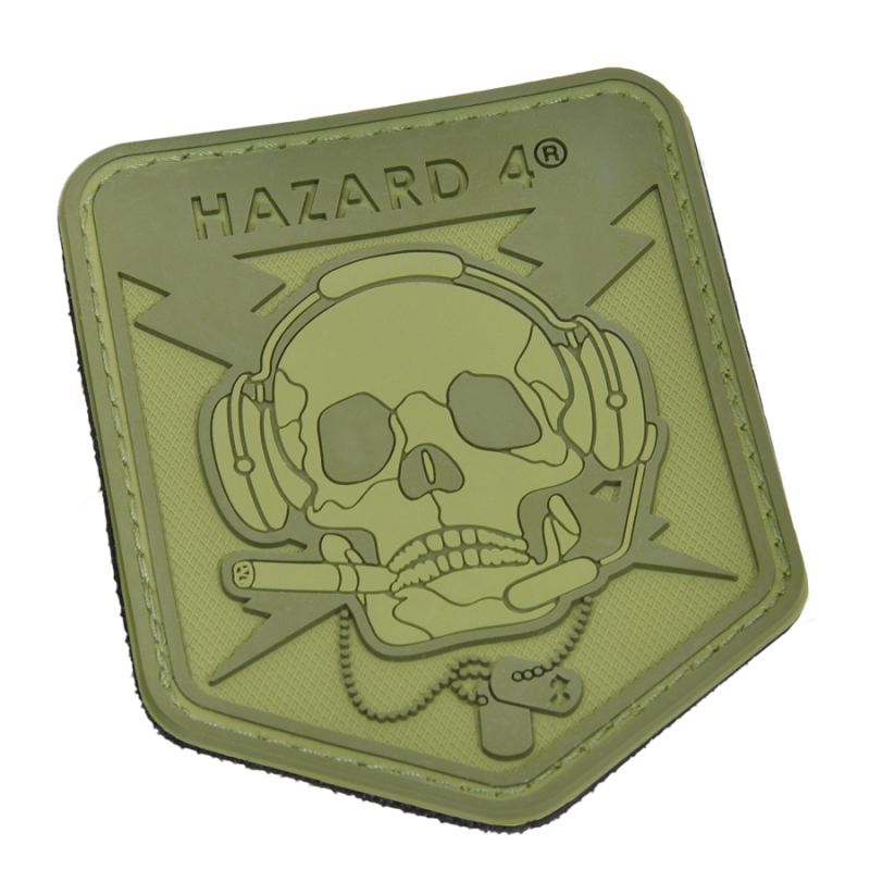 HAZARD 4 SPECOP SKULL MORALE PATCH PVC - OD GREEN