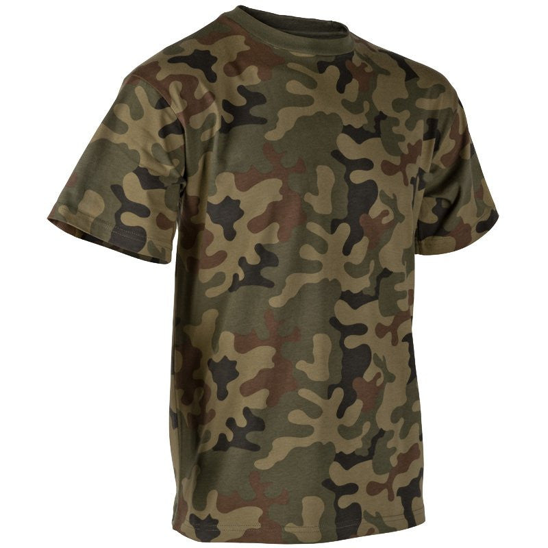 HELIKON-TEX COTTON T-SHIRT - PL WOODLAND