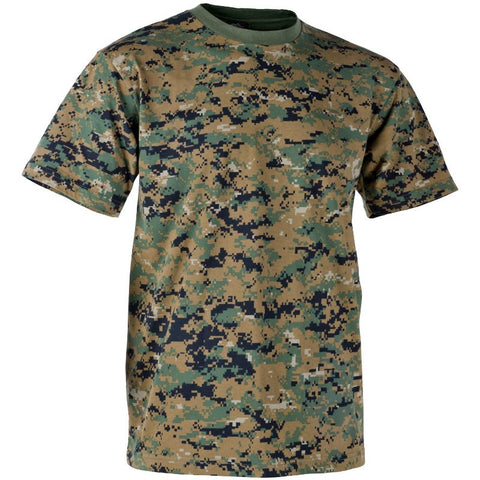 HELIKON-TEX COTTON T-SHIRT - USMC DIGITAL WOODLAND