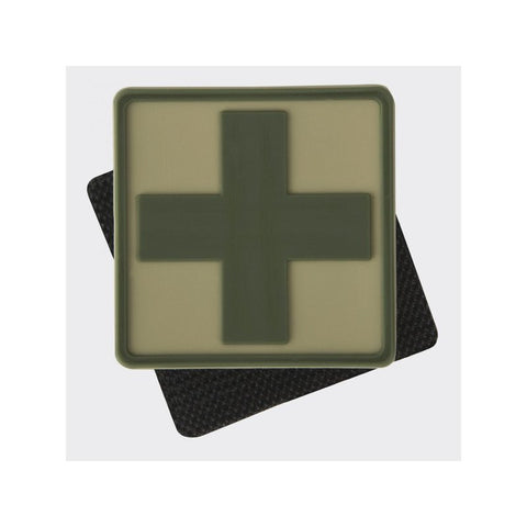 HELIKON-TEX MEDIC CROSS PVC PATCH - KHAKI