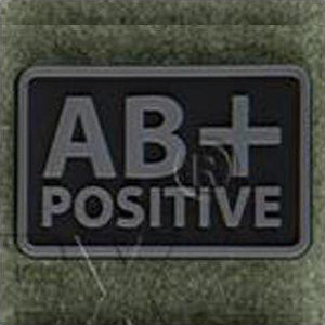 HELIKON-TEX PVC BLOOD PATCH - AB POS - BLACK - Hock Gift Shop | Army Online Store in Singapore