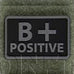 HELIKON-TEX PVC BLOOD PATCH - B POS - BLACK - Hock Gift Shop | Army Online Store in Singapore
