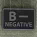 HELIKON-TEX PVC BLOOD PATCH - B NEG - BLACK - Hock Gift Shop | Army Online Store in Singapore