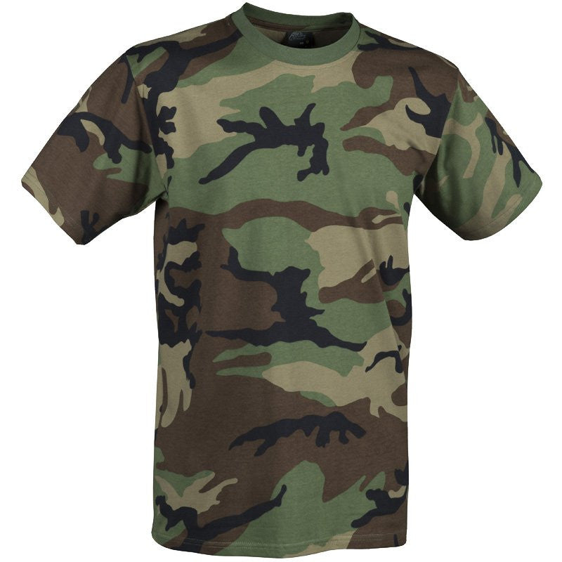HELIKON-TEX COTTON T-SHIRT - US WOODLAND