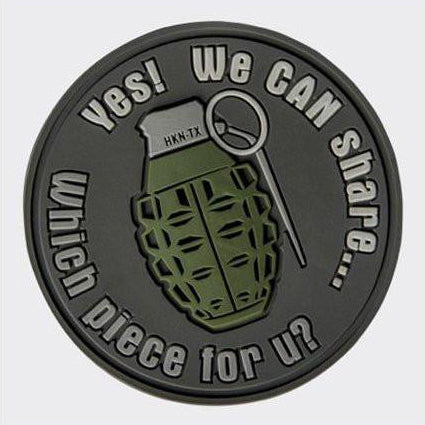 "HELIKON-TEX ""WE CAN SHARE"" GRENADE PATCH - GREY"