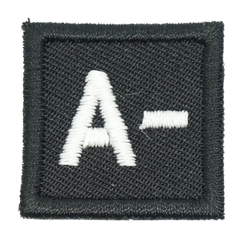 "HGS BLOOD GROUP 1"" PATCH, A- (BLACK) - Hock Gift Shop 