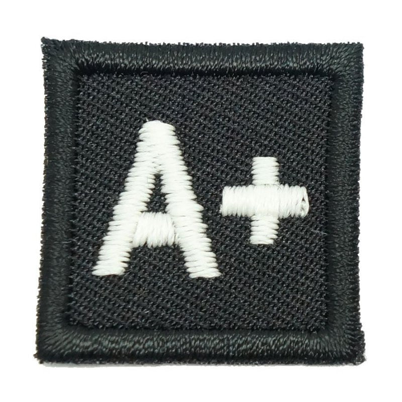 "HGS BLOOD GROUP 1"" PATCH, A+ (BLACK) - Hock Gift Shop 