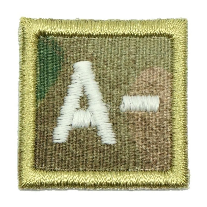 "HGS BLOOD GROUP 1"" PATCH, A- (MULTICAM) - Hock Gift Shop 