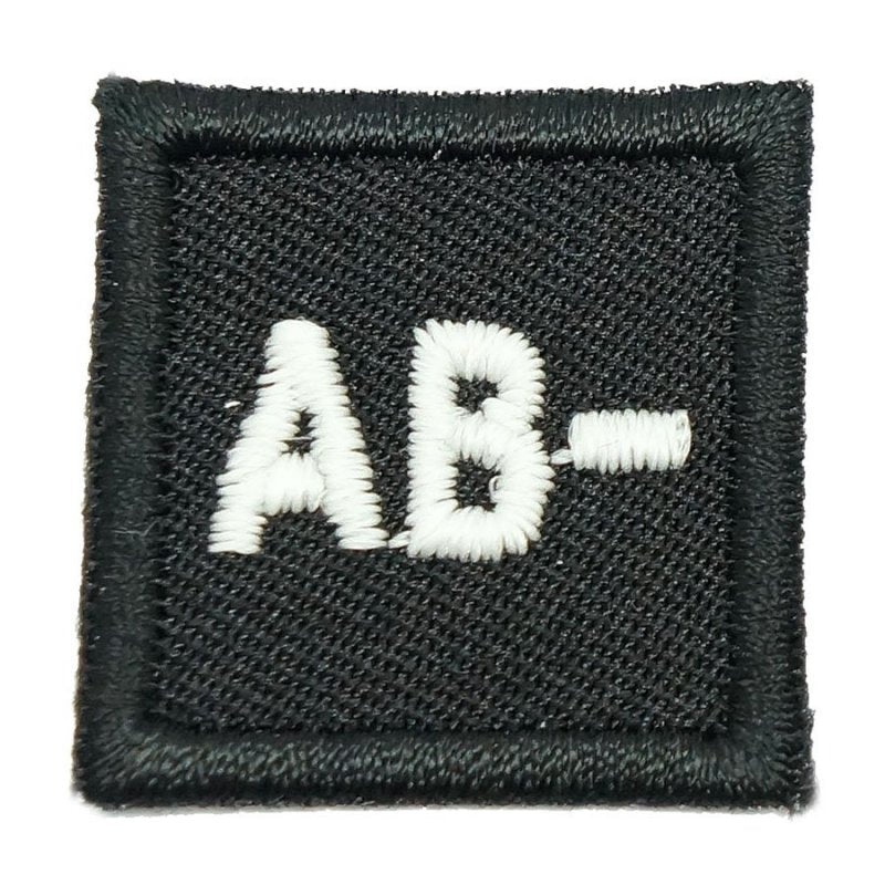 "HGS BLOOD GROUP 1"" PATCH, AB- (BLACK) - Hock Gift Shop 