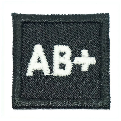 "HGS BLOOD GROUP 1"" PATCH, AB+ (BLACK) - Hock Gift Shop 