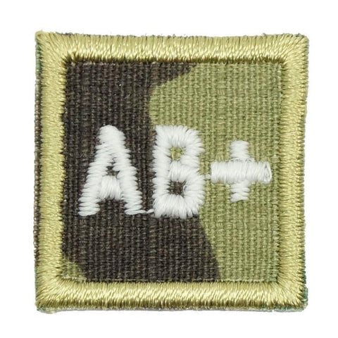 "HGS BLOOD GROUP 1"" PATCH, AB+ (MULTICAM) - Hock Gift Shop 