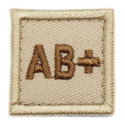 "HGS BLOOD GROUP 1"" PATCH, AB+ (KHAKI) - Hock Gift Shop 