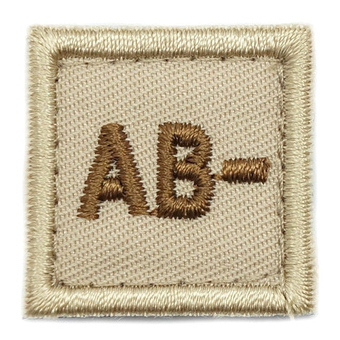 "HGS BLOOD GROUP 1"" PATCH, AB- (KHAKI) - Hock Gift Shop 