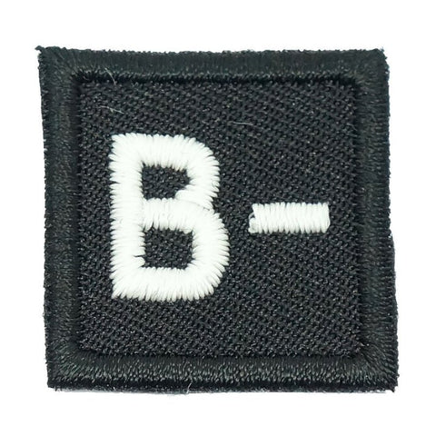 "HGS BLOOD GROUP 1"" PATCH, B- (BLACK) - Hock Gift Shop 