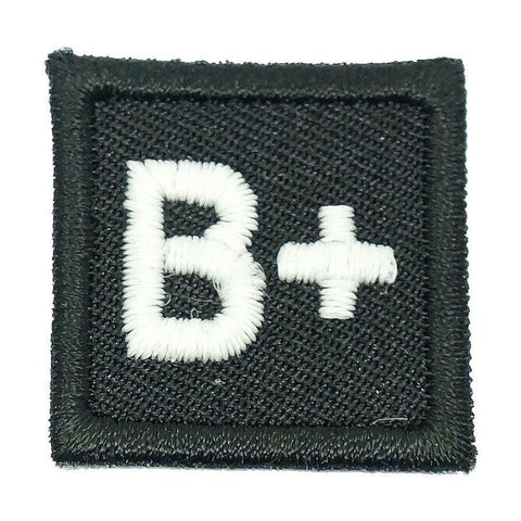"HGS BLOOD GROUP 1"" PATCH, B+ (BLACK) - Hock Gift Shop 