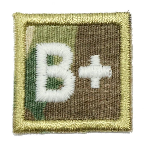 "HGS BLOOD GROUP 1"" PATCH, B+ (MULTICAM) - Hock Gift Shop 