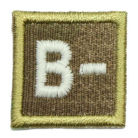 "HGS BLOOD GROUP 1"" PATCH, B- (MULTICAM) - Hock Gift Shop 