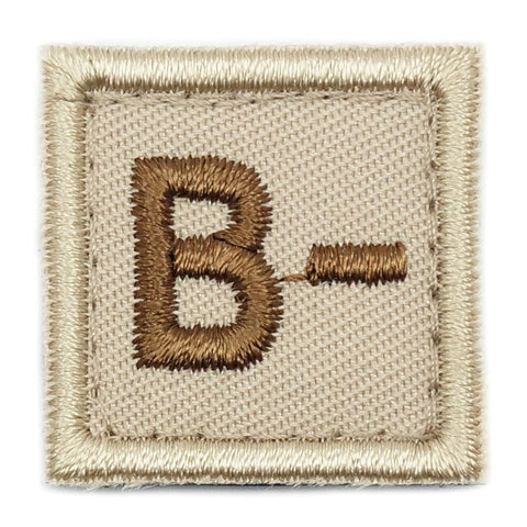 "HGS BLOOD GROUP 1"" PATCH, B- (KHAKI) - Hock Gift Shop 