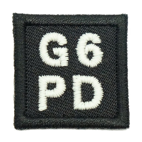 "HGS BLOOD GROUP 1"" PATCH, G6PD (BLACK) - Hock Gift Shop 