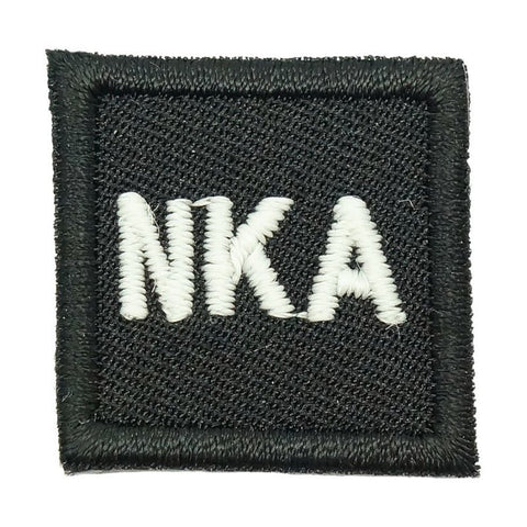 "HGS BLOOD GROUP 1"" PATCH, NKA (BLACK) - Hock Gift Shop 