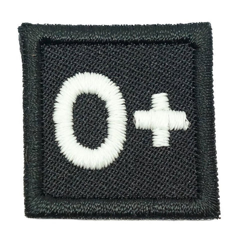 "HGS BLOOD GROUP 1"" PATCH, O+ (BLACK) - Hock Gift Shop 