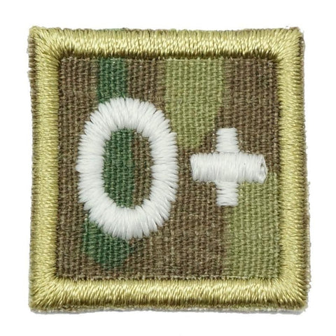 "HGS BLOOD GROUP 1"" PATCH, O+ (MULTICAM) - Hock Gift Shop 