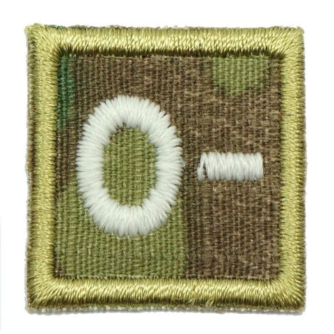"HGS BLOOD GROUP 1"" PATCH, O- (MULTICAM) - Hock Gift Shop 