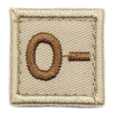 "HGS BLOOD GROUP 1"" PATCH, O- (KHAKI) - Hock Gift Shop 