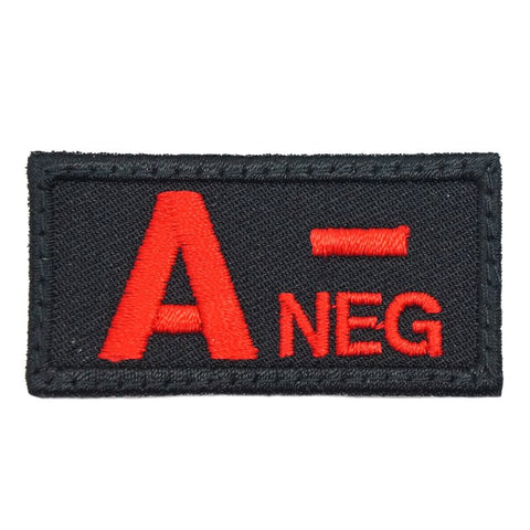 HGS BLOOD GROUP PATCH - A NEGATIVE (BLACK) - Hock Gift Shop | Army Online Store in Singapore