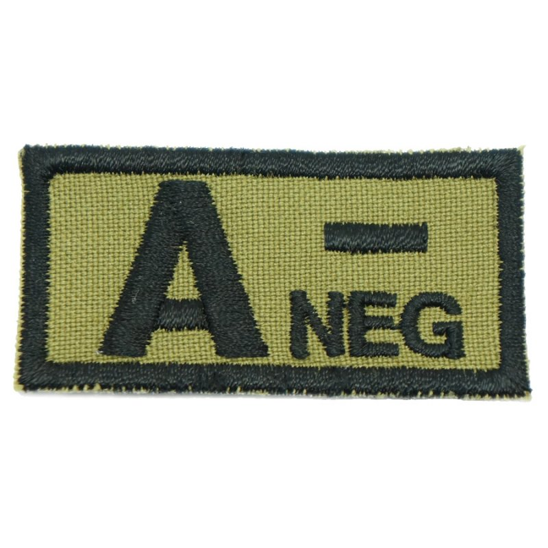 HGS BLOOD GROUP PATCH - A NEGATIVE (OLIVE GREEN) - Hock Gift Shop | Army Online Store in Singapore