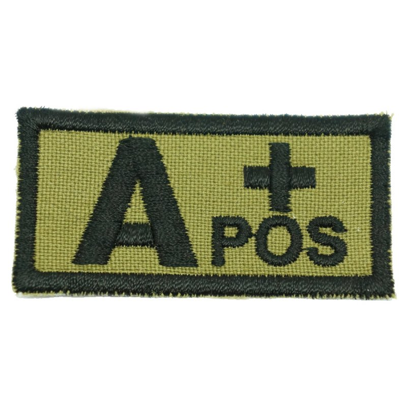 HGS BLOOD GROUP PATCH - A POSITIVE (OLIVE GREEN) - Hock Gift Shop | Army Online Store in Singapore
