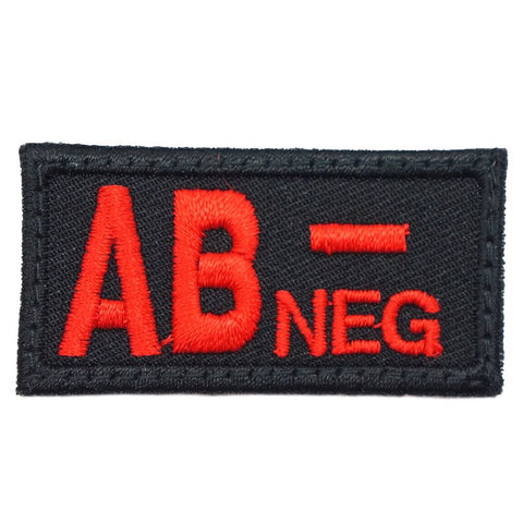HGS BLOOD GROUP PATCH - AB NEGATIVE (BLACK) - Hock Gift Shop | Army Online Store in Singapore